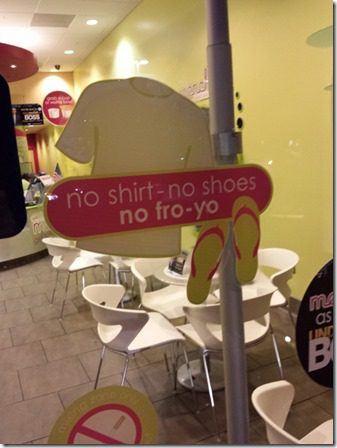 no shirt no fro yo at menchies