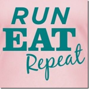 run eat repeat logo pink and green