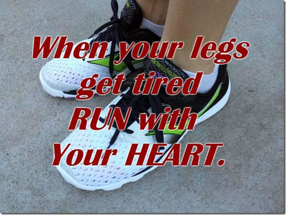 run with your heart thumb Motivation for Running–LA Marathon Week