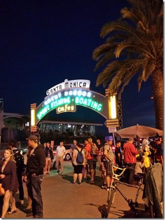 santa monica pier at night pre la marathon 600x800 thumb LA Marathon and Carb Loading Mexican Style