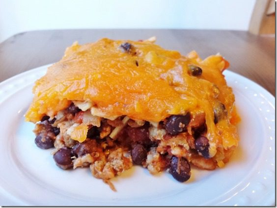 taco casserole recipe healthy gluten free 800x600 thumb Taco Casserole For Those Leftover Corn Tortillas