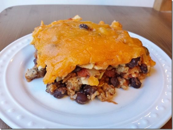 taco casserole recipe healthy gluten free easy meal 800x600 thumb Taco Casserole For Those Leftover Corn Tortillas