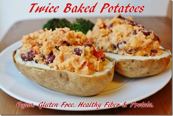 twice baked potatoes with hummus