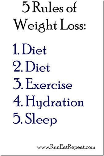 5 rules of weight loss diet tips