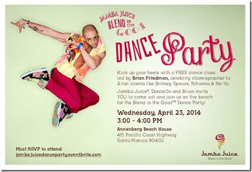 Jamba juice dance party thumb Rock N Roll San Diego Headliner and Sponsor Suja