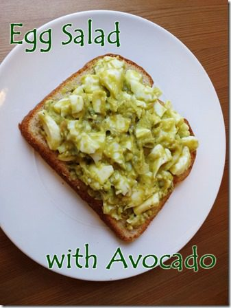 egg salad with avocado recipe no mayo