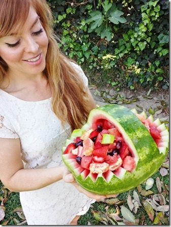 happy easter with my watermelon basket 600x800 thumb Easter Feast–Mexican Style