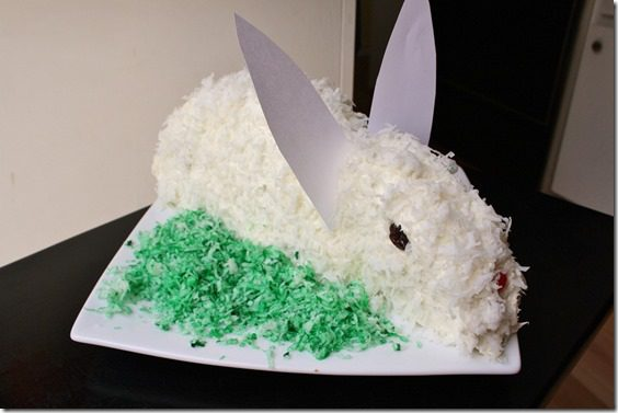 how to make an easter bunny cake tutorial
