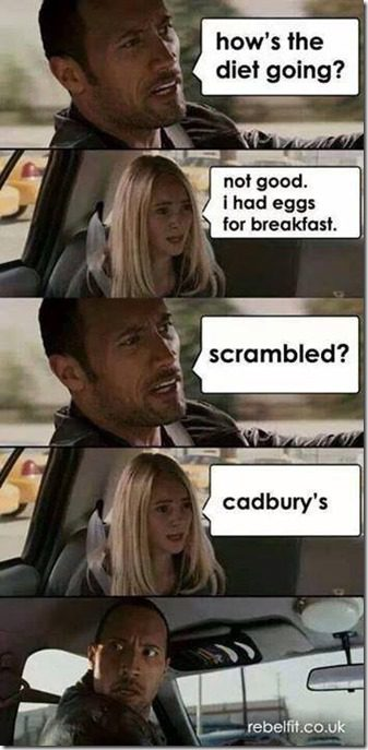 i had eggs for breakfast, cadbury eggs