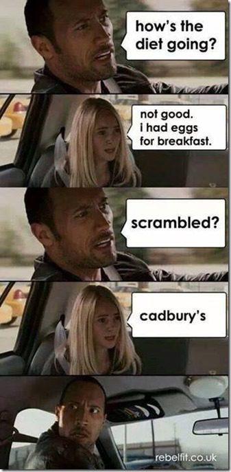 i had eggs for breakfast, cadbury eggs