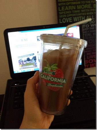 iced coffee in my strawberry cup (600x800)