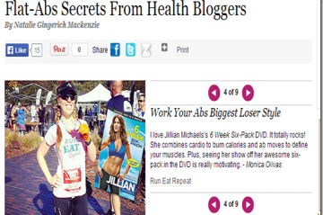 Flat-Abs Tips from Health Bloggers on Lady's Home Journal