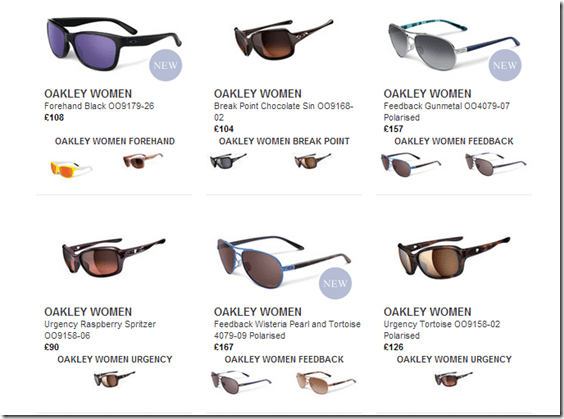 all types of oakley sunglasses