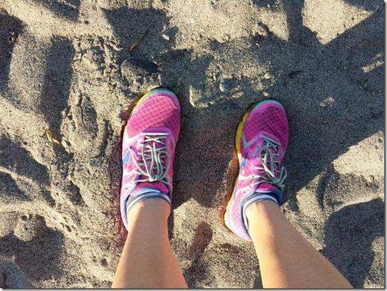 mizuno running shoes on the sand 800x600 thumb Flat Abs Tips from Health Bloggers on Lady's Home Journal