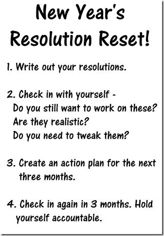 new year's resolution check in