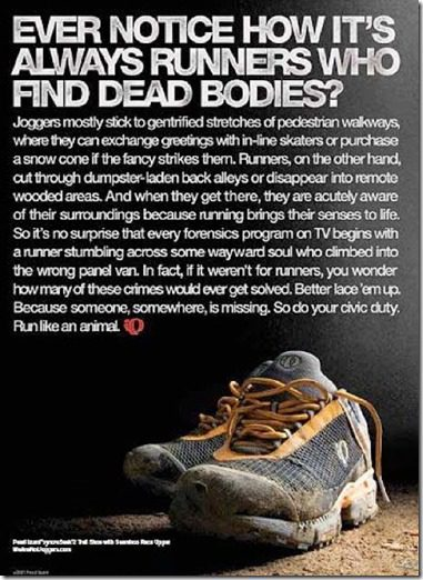 runners find dead bodies