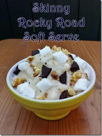 skinny rocky road soft serve thumb Healthier Rocky Road Soft Serve Ice Cream