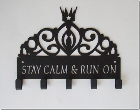 stay calm and run on medal hanger