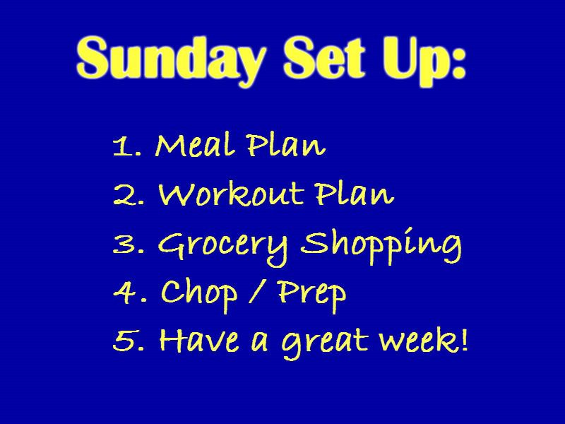 Sunday Set Up Meal Prep And Workout Plan