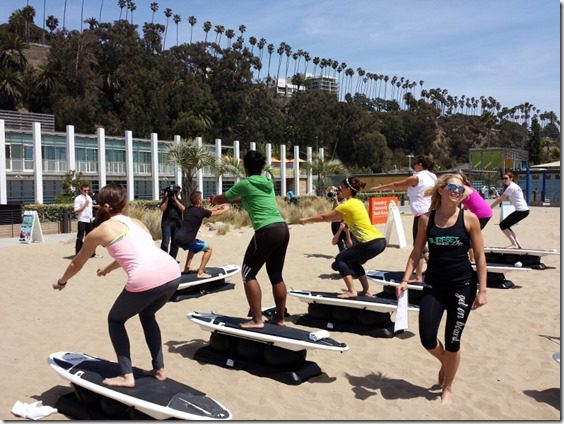 surf fitness class california 800x600 thumb Best New Fitness Classes