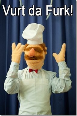 what the f swedish chef thumb What I Ate and Wore and Ruined Today…