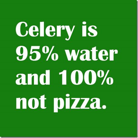 celery is not pizza