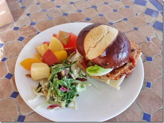 chicken burgers and pretzel buns 800x600 thumb Mother's Day at My Mom's