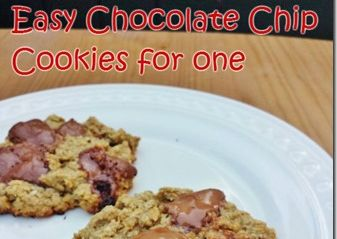 Chocolate Chip Oatmeal Cookie for One