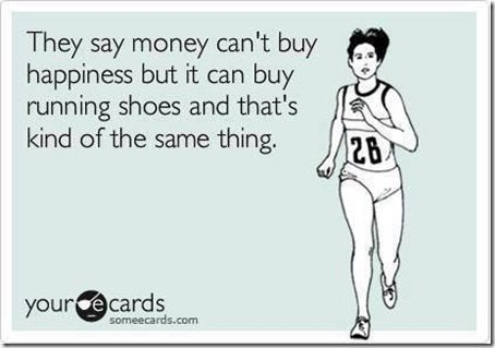 happiness is running shoes