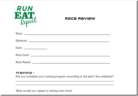 race review form