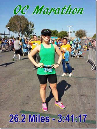 oc marathon results recap post race time