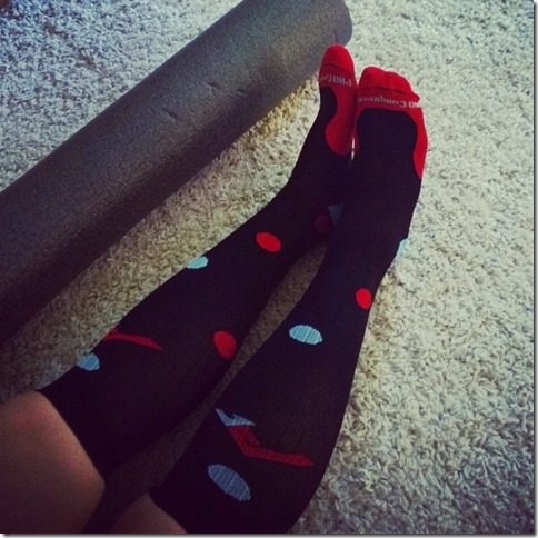 procompression polka dot socks thumb Iced Coffee Almond Protein Shake and SUJA GIVEAWAY