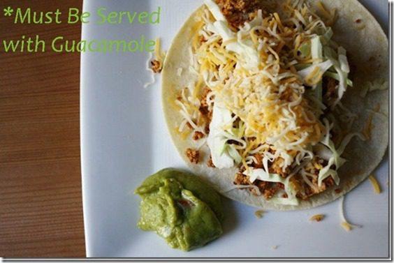 two ingredient vegetarian tacos