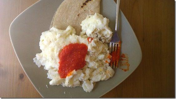 rocky mountain sriracha on eggs