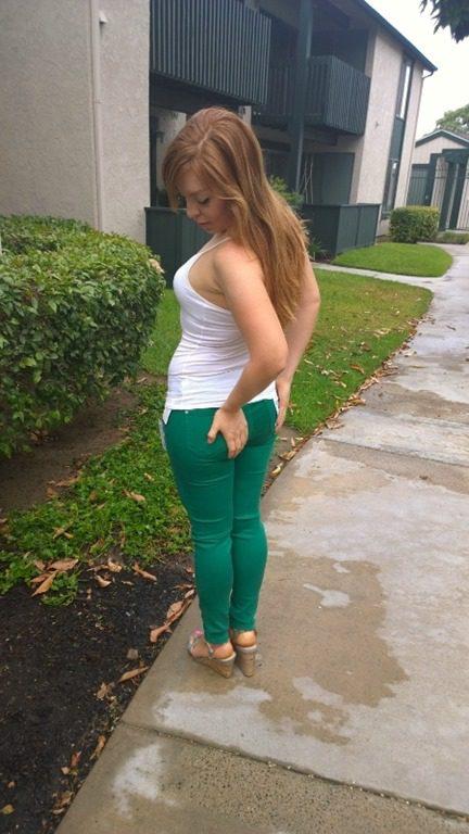 Skinny blonde girl ass