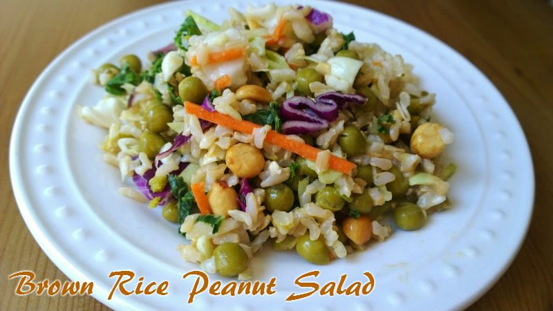 brown rice peanut salad
