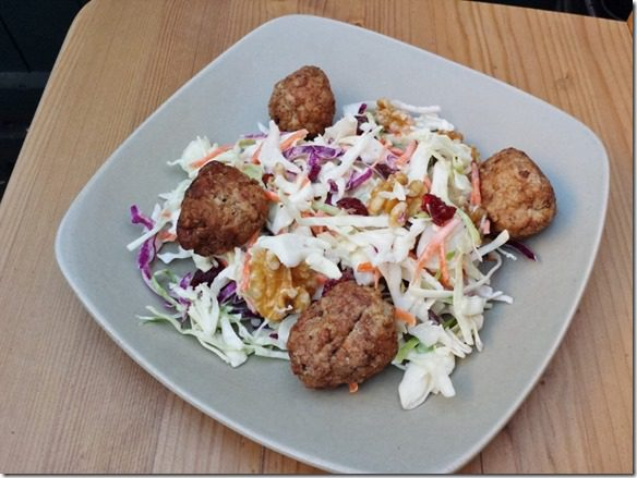 coleslaw and turkey meatballs all week 800x600 thumb What I'm Going To Eat All Week–Lazy Meal Planning