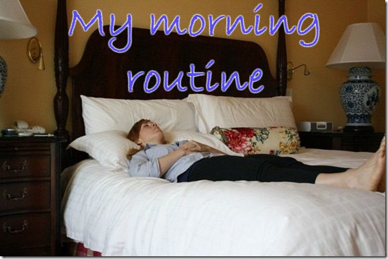 my morning routine before a run