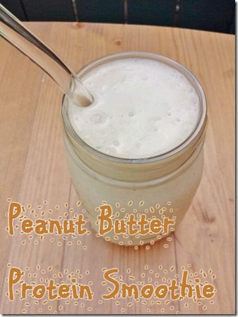 peanut butter protein smoothie without protien powder recipe thumb Peanut Butter Protein Smoothie–without Protein Powder