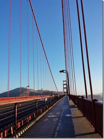 walking or running across golden gate bridge 600x800 thumb I'm Not a Model But I Might Be Coyote Food