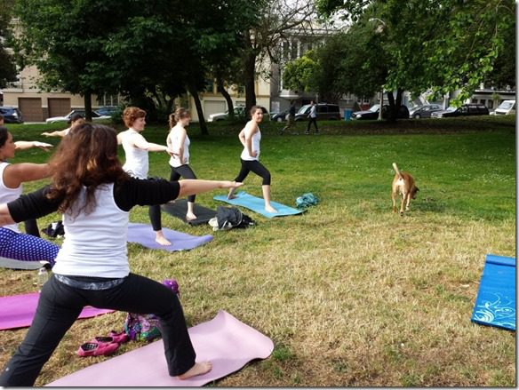 yoga with a dog 800x600 thumb Walk in Golden Gate Park