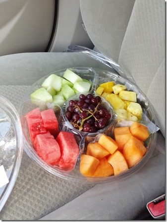 fruit while driving 600x800 thumb Sunday Set Up and Saturday Long Run