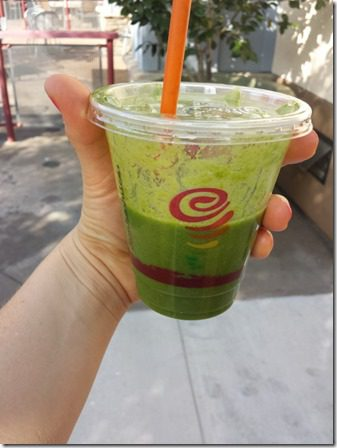 green smoothie from jamba juice 600x800 thumb Sunday Set Up and Saturday Long Run