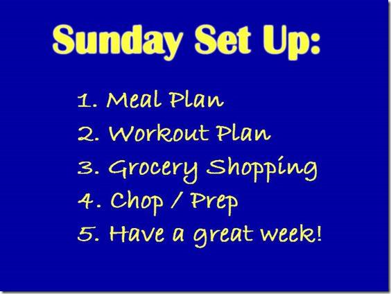 sunday set up plan