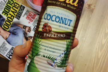 Coconut Water with Coffee Before Running!!!!