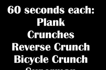 5 Minutes of Exercise