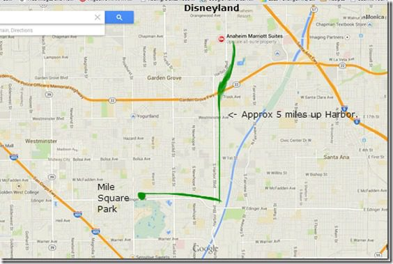 disneyland running routes