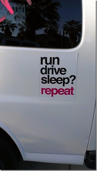 run drive sleep repeat