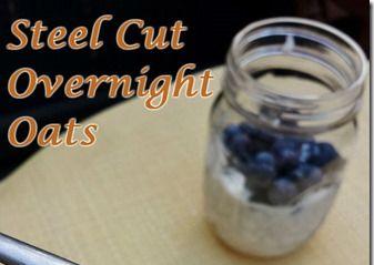 Easy Steel Cut Overnight Oats in Yogurt