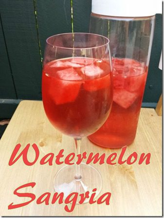 watermelon sangria recipe for life